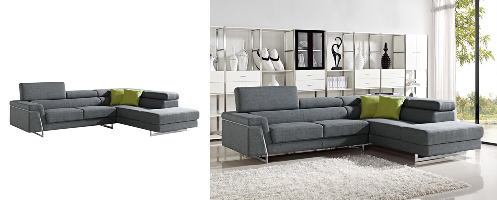 Darby - Modern Fabric Sectional Sofa Set