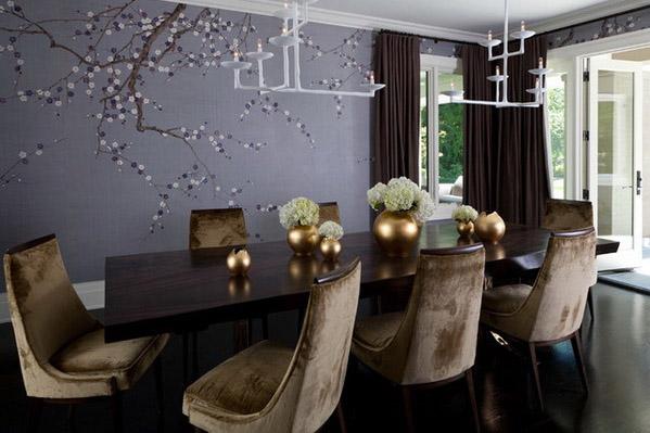 Aran acja wn trz jadalni wybieramy designerski st for Purple kitchen wallpaper