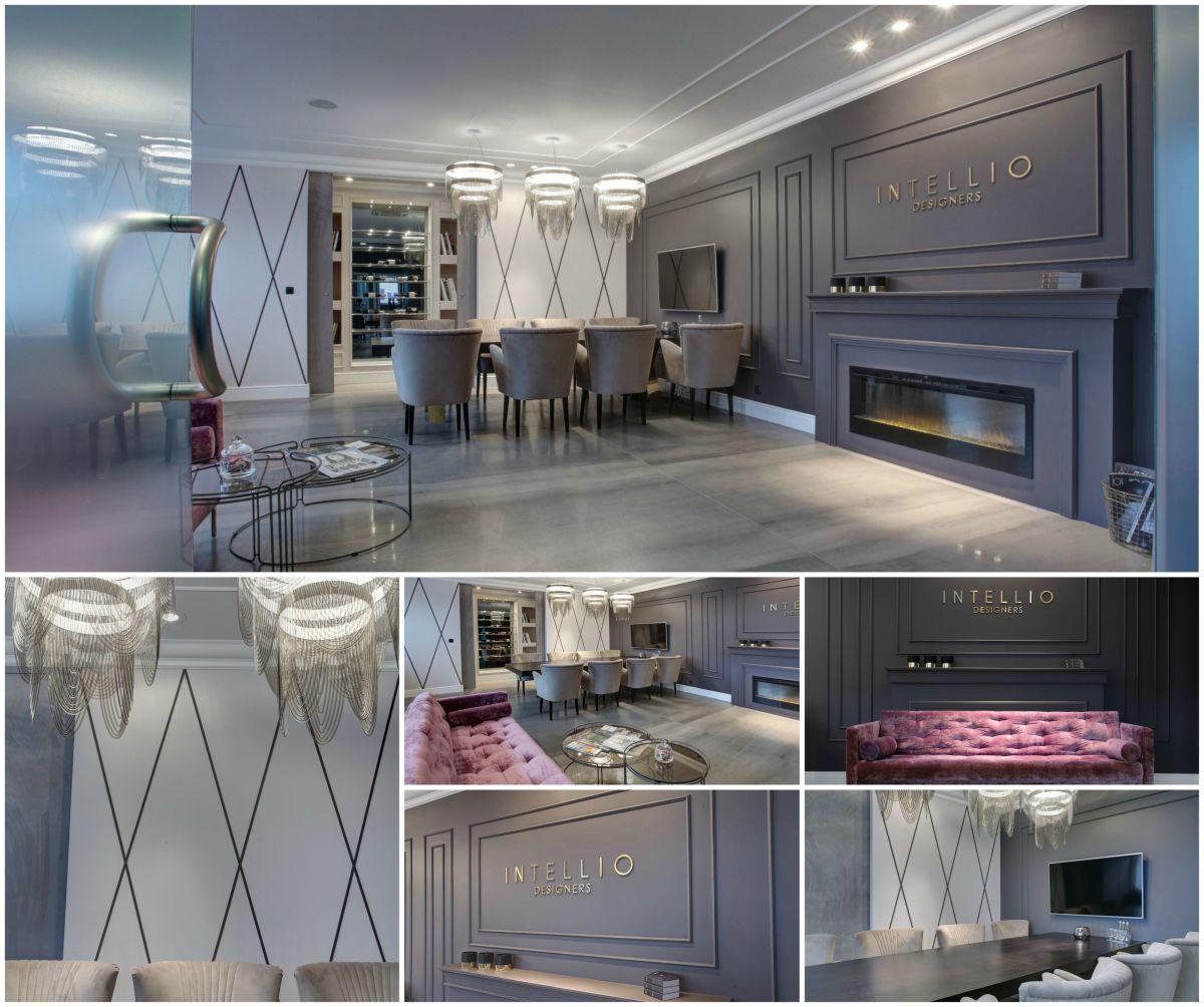 Intellio designers projekty i aranżacje wnętrz - biuro projektowe, luksusowe wnętrza studio aranżacji wnętrz. Sala konferencyjna aranżacja