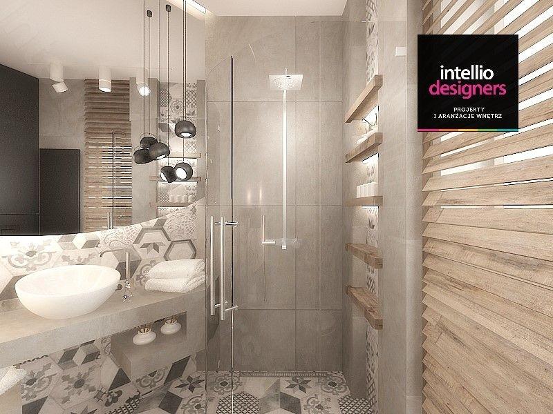 Projekt łazienki z lustrem okrągłym