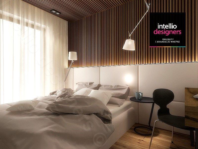 Sypialnia w stylu skandynawskim projekt wnętrz