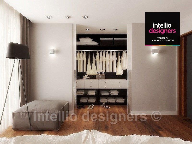 Garderoba w sypialni, piękna sypialnia z garderobą inspiracje wnętrz
