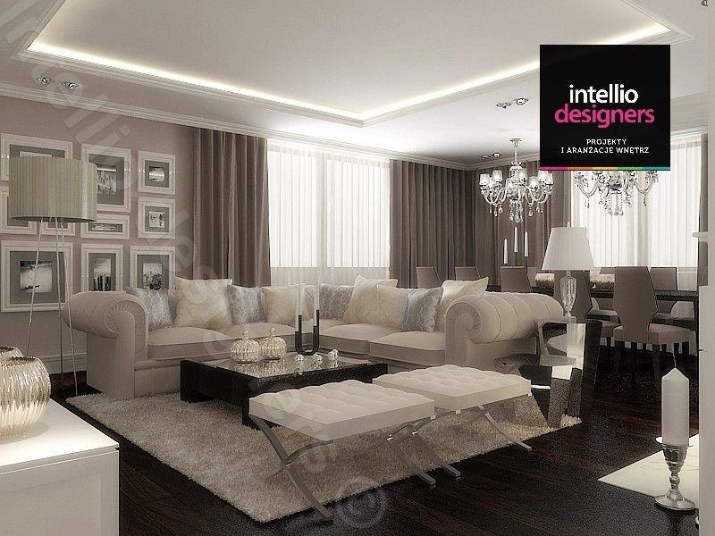 Piękna rezydencja w podkarpackim, salon urządzony w stylu klasycznym