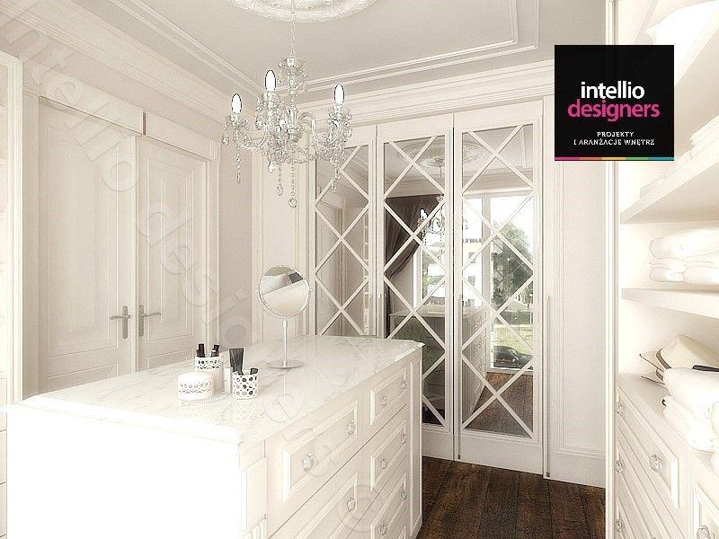 Garderoba stylowa projektowanie wnętrz piękne białe meble