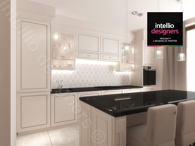 Stylowe projekty wnętrz - Koncepcja wnętrz kuchni, aranżacje Intellio
