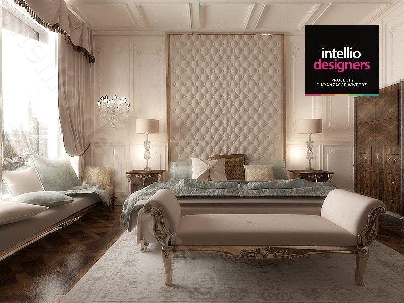Sypialnia w pałacowej aranżacji wnętrz