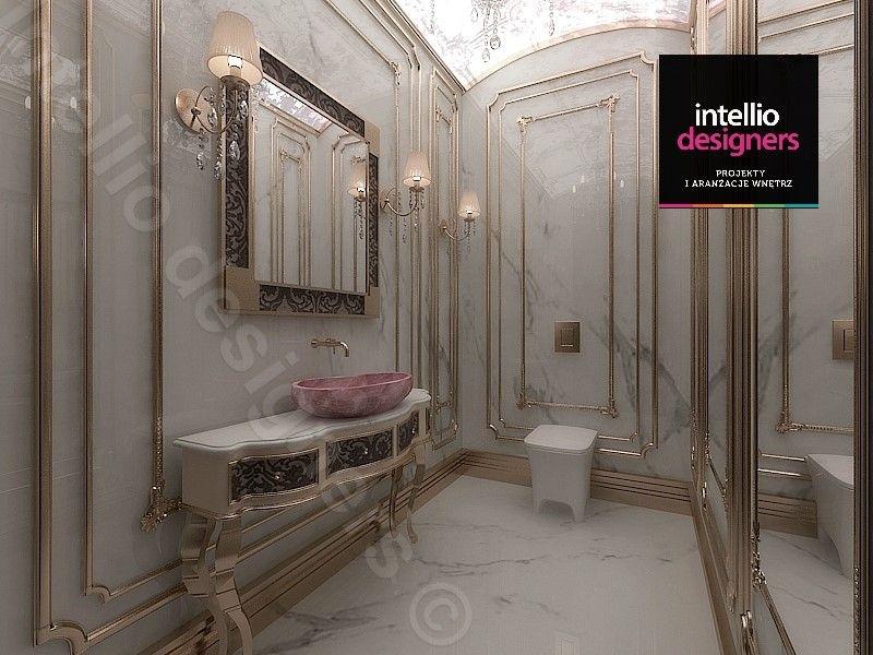 Moldingi i sztukateria w łazience - inspiracje