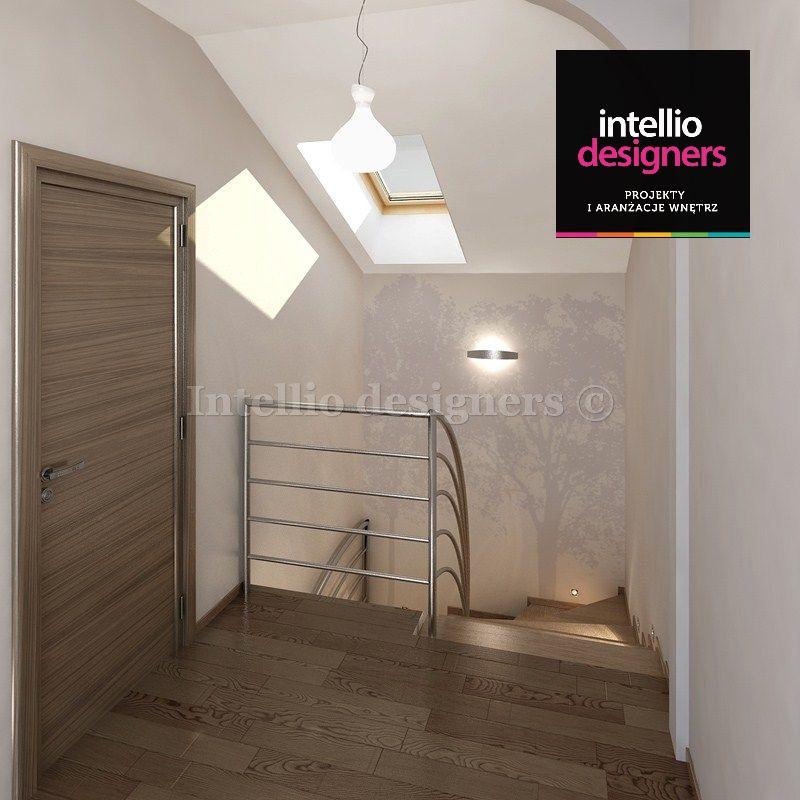 projekt wnętrza dom klatka schodowa schody