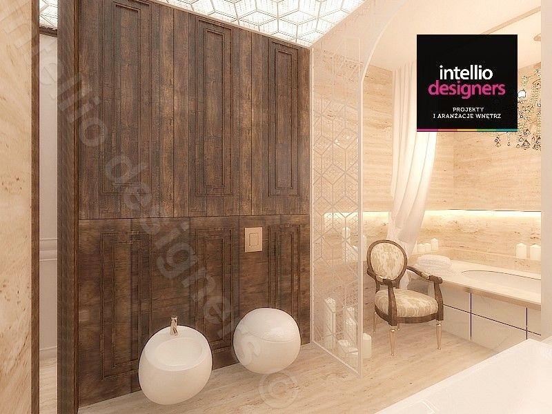 Toaleta i bidet w łazience projekt wnętrz