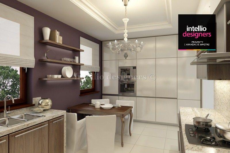 wnętrza domów, projekt wnetrza dom kuchnia meble
