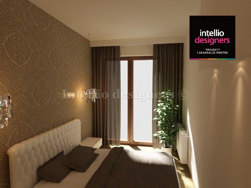 mieszkania projekty wnętrz sypialnia łóżko, Kraków, Zakopane, Katowice, Tarnów, pokoje wystrój wnętrz