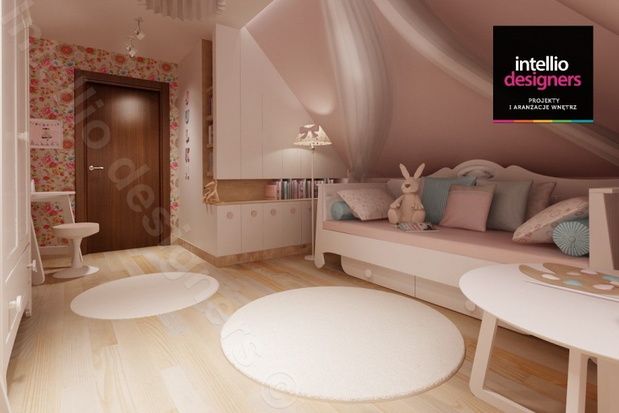 Realizacje biur projektowych, portfolio - pokój małej dziewczynki