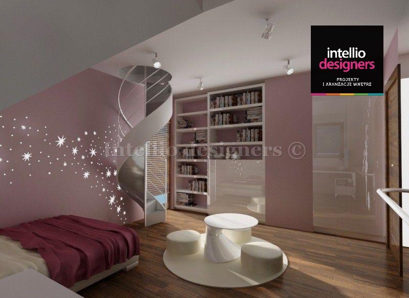 projekt wnętrz pokoj dziewczynki łóżeczko stolik szafa różowy
