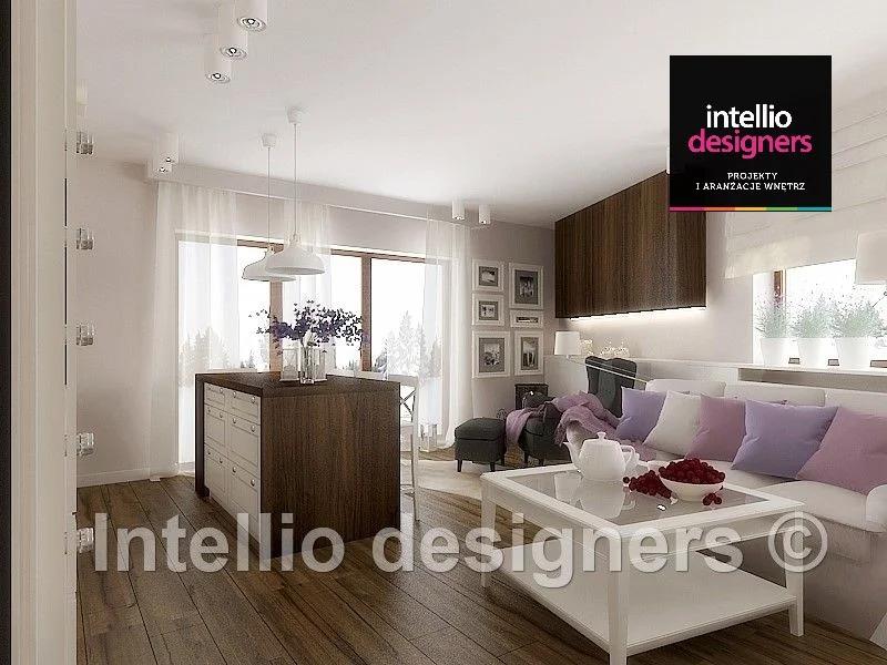 Projektowanie wnętrz salon - styl skandynawski mieszkania projekty wnętrz - salon obrazy na ścianie zima za oknem