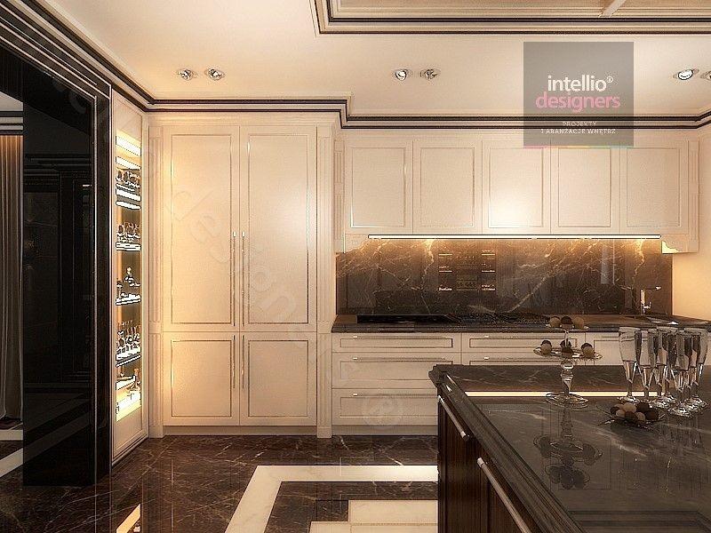 Luksusowe rezydencje w Polsce - kuchnia - przestronne, klasyczne, stylowe wnętrza salonów, sypialni, pokoi gościnnych