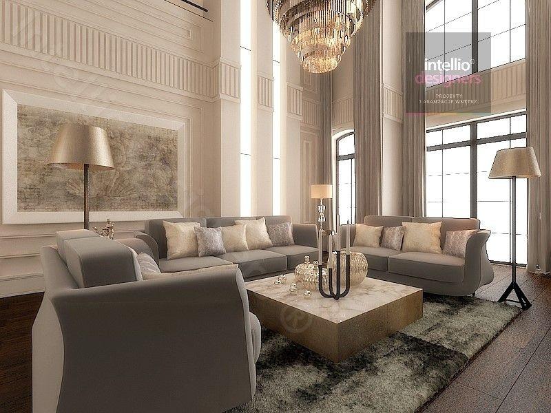 Salon Luksusowe rezydencje w Polsce - przestronne, klasyczne, stylowe wnętrza salonów, sypialni, pokoi gościnnych