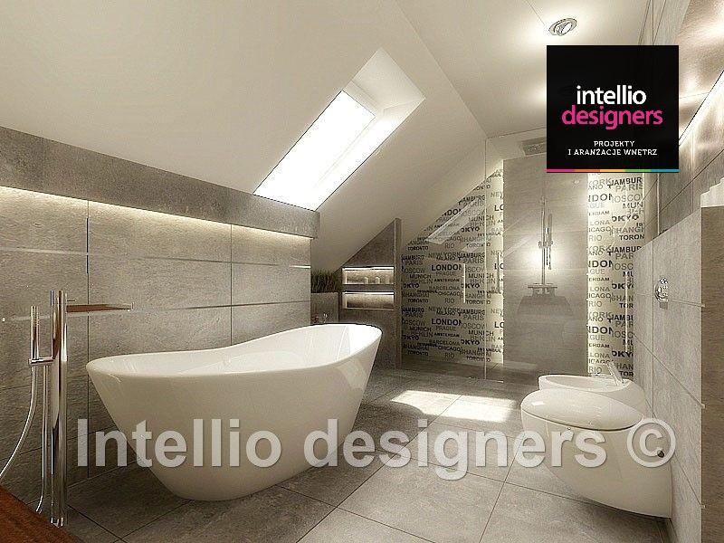 szkło z nadrukiem w łazience styl nowoczesny kabina prysznicowa