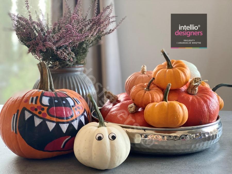 Jesienne dekoracje aranżacje wnętrz. Kolory jesieni dynie pumpkin season jesien od Intellio