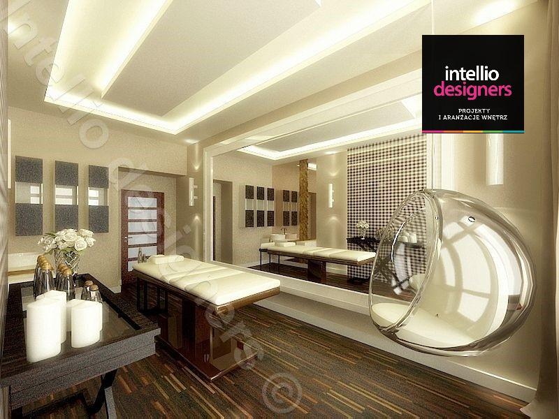 salon Estiyo Clinique - Gabinet kosmetyczny projekt i aranżacja projektowanie wnętrz salon piękności