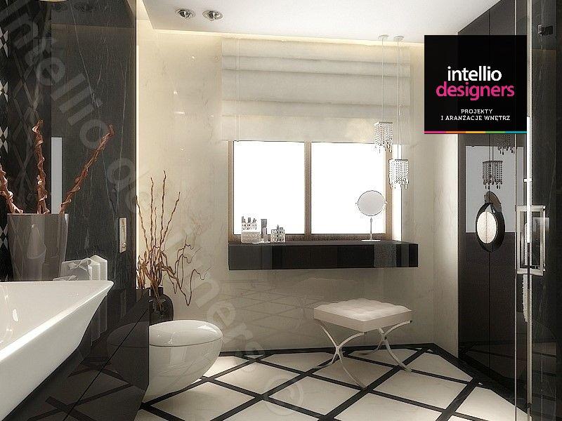 Ekskluzywna łazienka pokój kąpielowy. Aranżacja wnętrz łazienki - luksusowa rezydencja
