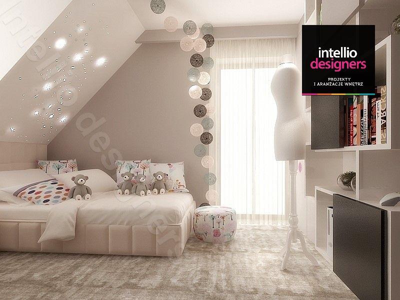 Pokój dla dziewczynki aranżacja wnętrz - projektant wnętrz kraków - luksusowy pokój dziecka