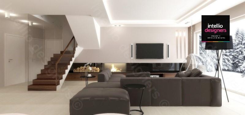 Salon aranżacje domu Intellio designers