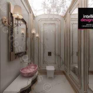 Złote dodatki do łazienki - aranżacje łazienek