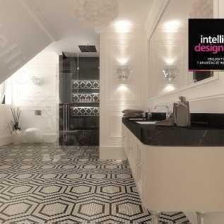Łazienki glamour Projekty wnętrz - koncepcje, wizualizacje