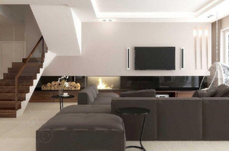 Projektowanie wnętrz dom klatka chodowa i duży salon - home interior design