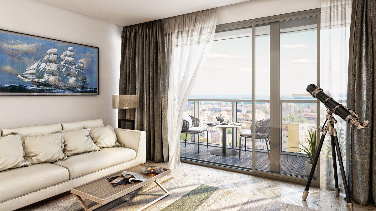 Hanza Tower proponuje oprócz luksusowych apartamentów, także miniapartamenty oraz penthouse