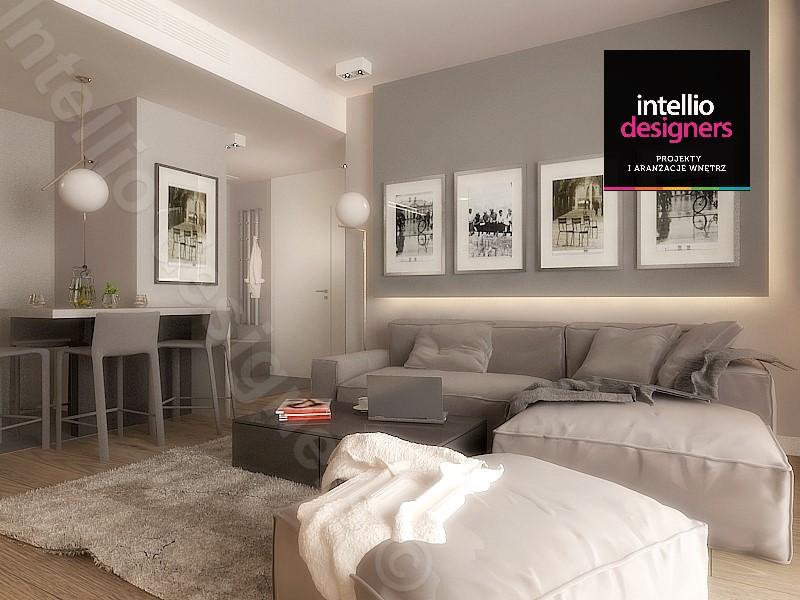 Intellio - Projekt i aranżacja apartamentu w OVO Wrocław
