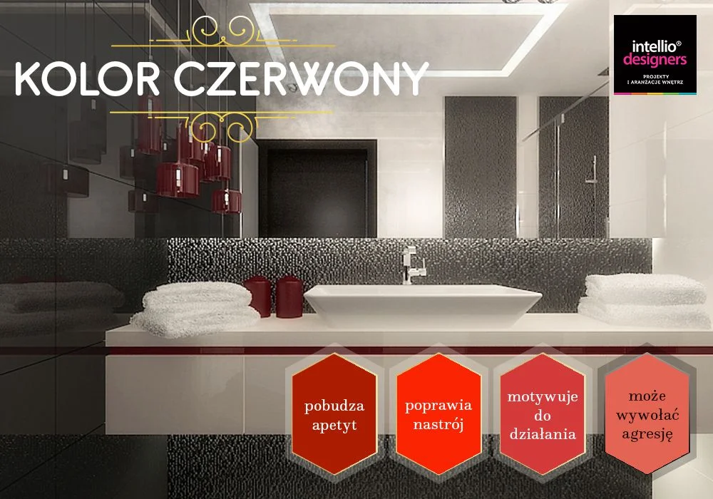 Projektowanie wnętrz kolor czerwony - dobór kolorów ścian, wyposażenia wnętrz