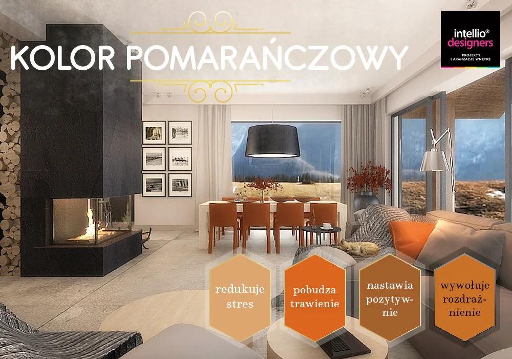 Projektowanie wnętrz pomarańczowy - dobór kolorów ścian, wyposażenia wnętrz