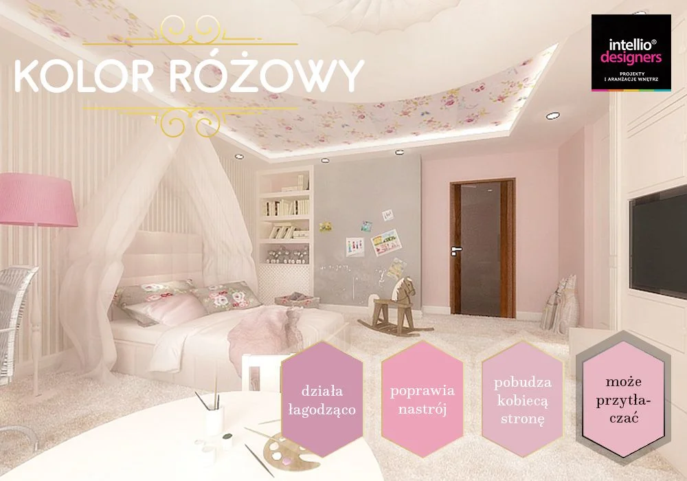 Aranżacje różowych wnętrz - dobór kolorów ścian, wyposażenia wnętrz