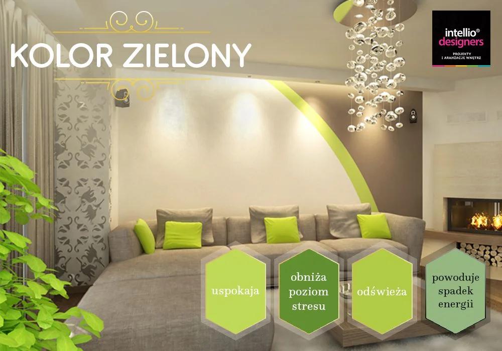 Projektowanie wnętrz zielony kolor - dobór kolorów ścian, wyposażenia wnętrz