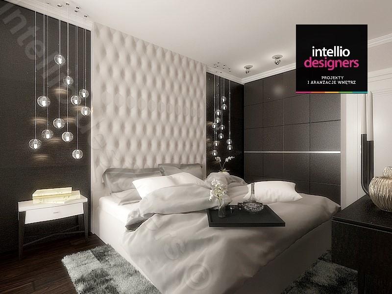 Sypialnia stylowa, koncepcja Intellio designers. Urządzanie sypialni.