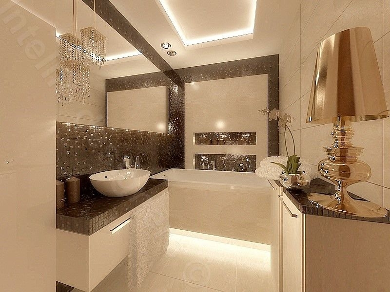 Lustro w łazience projekt wnętrz łazienki