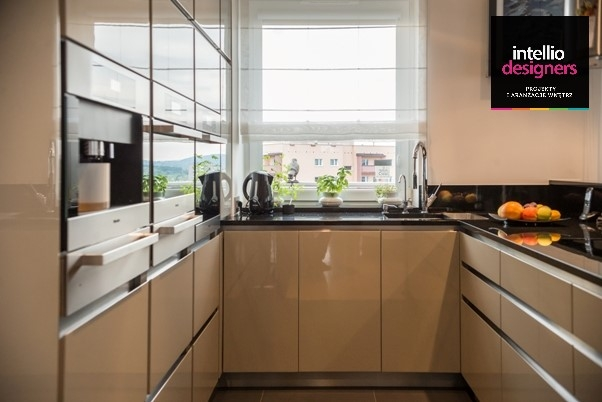 Wyposażenie kuchni - armatura w kuchni - realizacja wnętrz Intellio designers