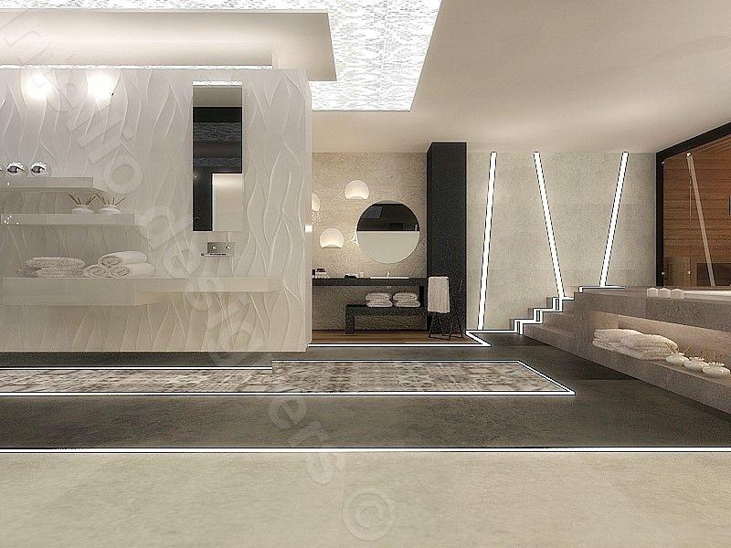 Lampy LED w Prestige Room - aranżacje wnętrz Intellio designers