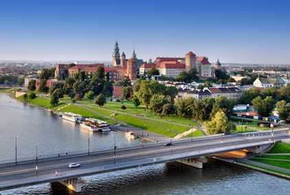 mieszkanie w Krakowie, panorama Krakowa, architektura Krakowa, Wawel, bulwary wiślane Kraków