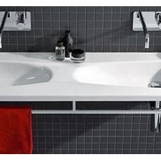 bateria podtynkowa wisząca umywalka podwójna biała bidet wiszący