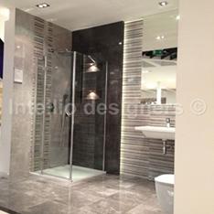 aranżacje i dekoracje łazienek - zdjęcia - prysznic wnęki w prysznicu brodzik niski aranżacja łazienki