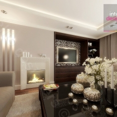 Kuchnia, łazienki, salon, pokoje zaprojektowane i zaaranżowane przez Intellio Kraków. Płytki, meble, kolory ścian, oświetlenie - materiały wykończeniowe