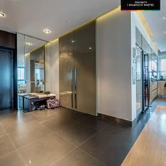 Projekt Intellio designers przedpokój w mieszkaniu 120 m2