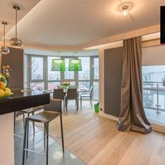 Jadalnia i salon - interior design Cracow apartaments