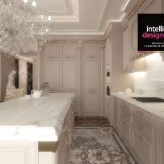 Projektowanie wnętrz. Kuchnia w apartamencie w Krakowie