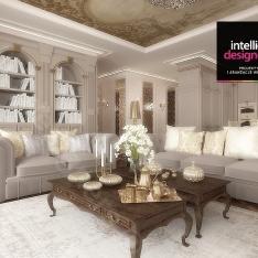 Livingroom Interior design Cracow. Apartament prezydenta koncepcja