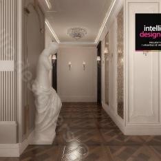 Przedpokój projekt apartamentu w Krakowie