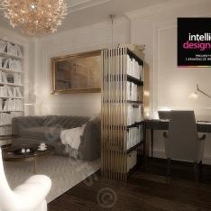 ekskluzywne wnętrza apartamenty zaprojektowane przez studio projektowe Intellio designers