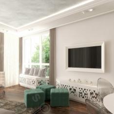 Francuskie mieszkanie, styl nowoczesny